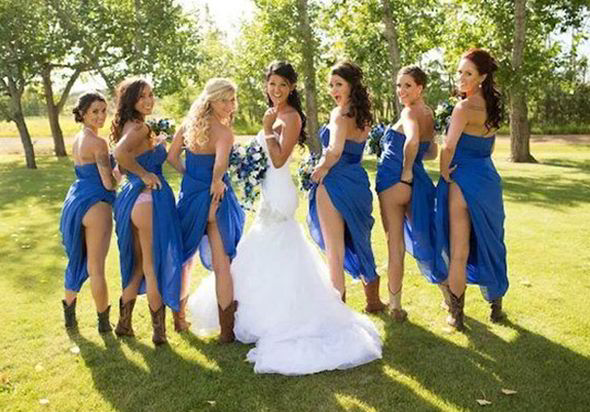 Bridesmaids are revealing everything from lacy French knickers to bare-bottoms [PINTEREST]